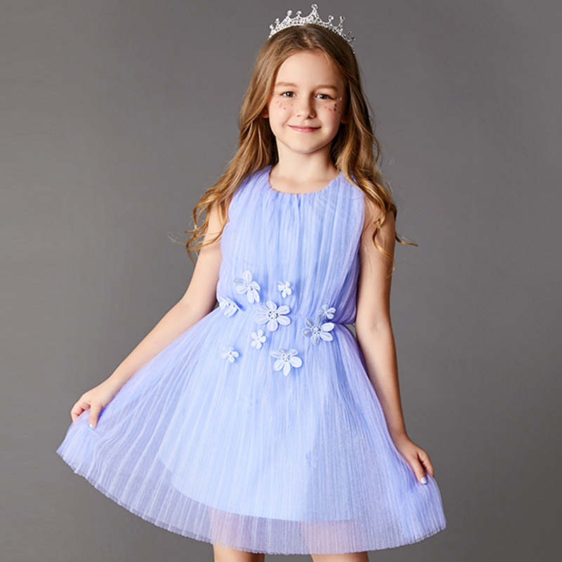 flower flower girl children's wedding dresses hostess birthday dress Princess yarn цена