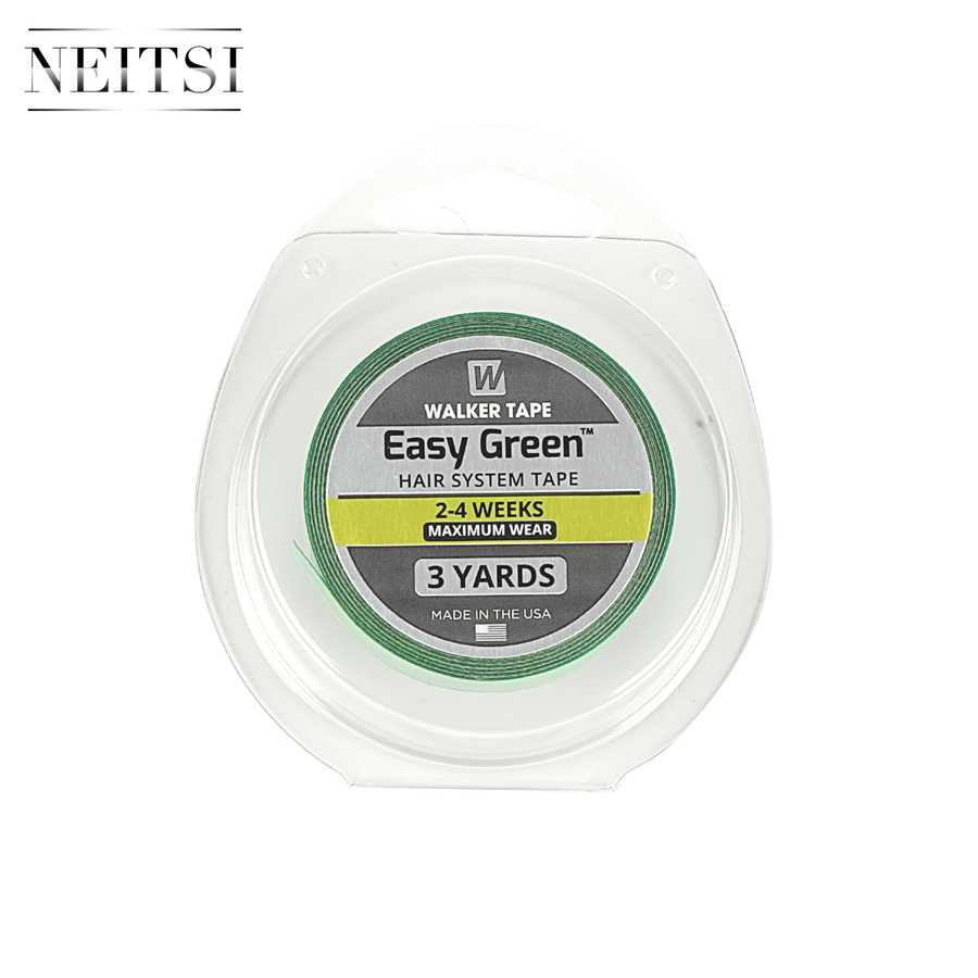 Neitsi 1.27 cm*3 Yards Super Glue Tape For Hair Extensions Double Sided Easy Green American Walker Tape 1 Roll