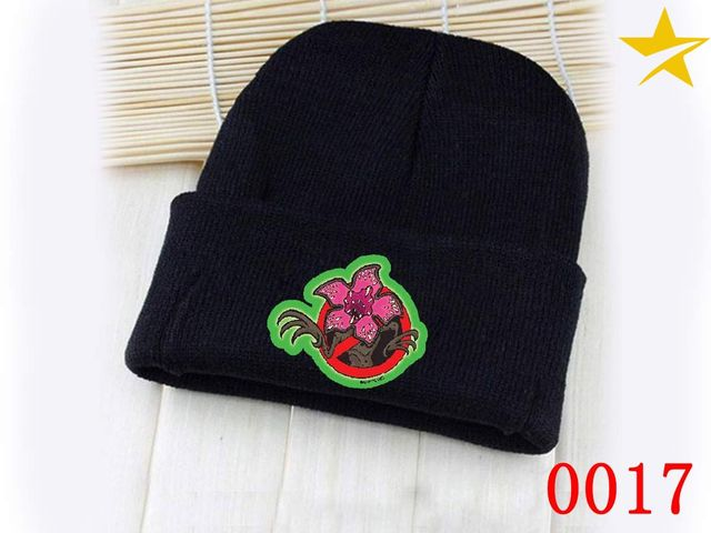 7ea93f3f1 US $3.5 |Giancomics Stranger Things Hat Movie Black Skullies Beanie Knitted  Cotton Hat Cap Cosplay Costume Unisex Fashion Winter Gifts-in Boys Costume  ...