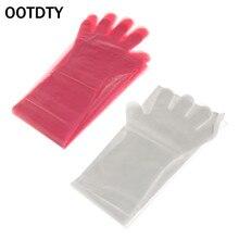 OOTDTY 50Pcs חד פעמי כפפות חבילה ארוך זרוע וטרינרית בחינה יד הגנת כלי רך פלסטיק עבור חוות ייצור בעלי החיים