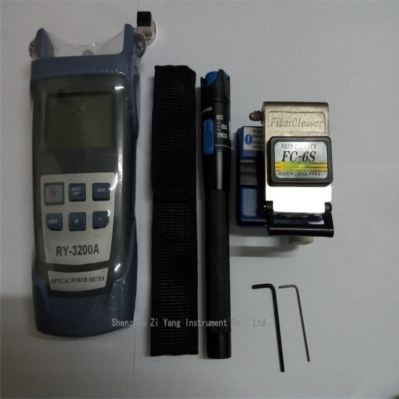 FTTH RY3200 Optical Power Meter FC 6S Fiber Cleaver blade auto back font b knife b