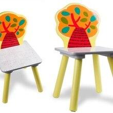 Детский стул детский сад животное стул из твердой древесины детская мебель 25*26*31 см горячая новинка качество