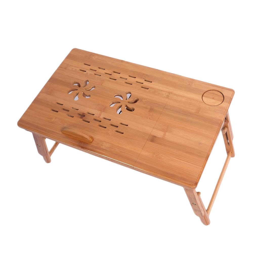 Aliexpress Buy 53cm Adjustable Bamboo puter Desk Laptop