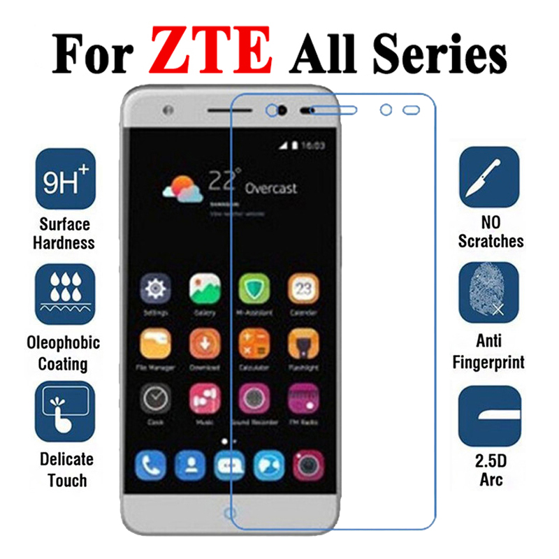 Protective Glass On The For ZTE Blade A6 A601 V7 A520 A510 V8 Lite Tempered Glas A V 6 7 8 Light 7V 8V Screen Protector Film