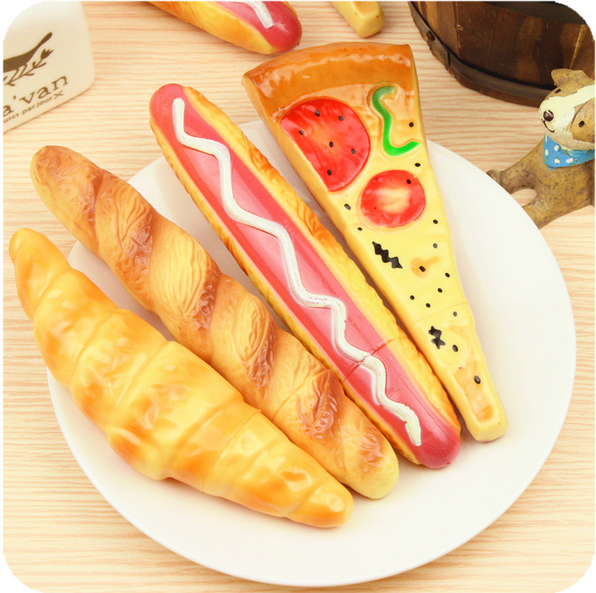 1PCS/lot  New Pizza hot dog buns ballpoint Bread BallPoint Pens Stationery Canetas escolar material school supplies
