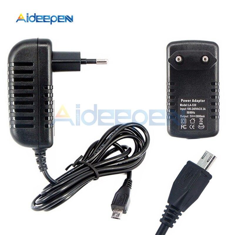 AC 100 в-240 в постоянный ток 5 В 3 А 15 Вт блок питания зарядное устройство адаптер AC-DC конвертер трансформаторы 3000ма Micro USB EU разъем длина кабеля 1 м