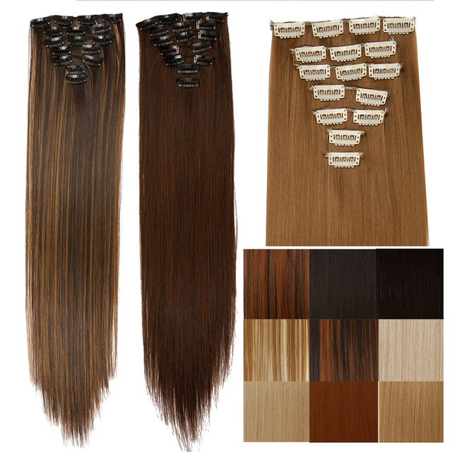 2414 colors long straight clip in hair extensions fake false hair 2414 colors long straight clip in hair extensions fake false hair extension heat resistant pmusecretfo Choice Image