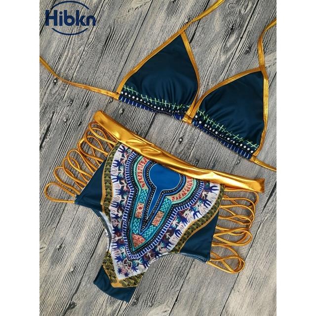 Bronzing Fabric High Waisted Bikini