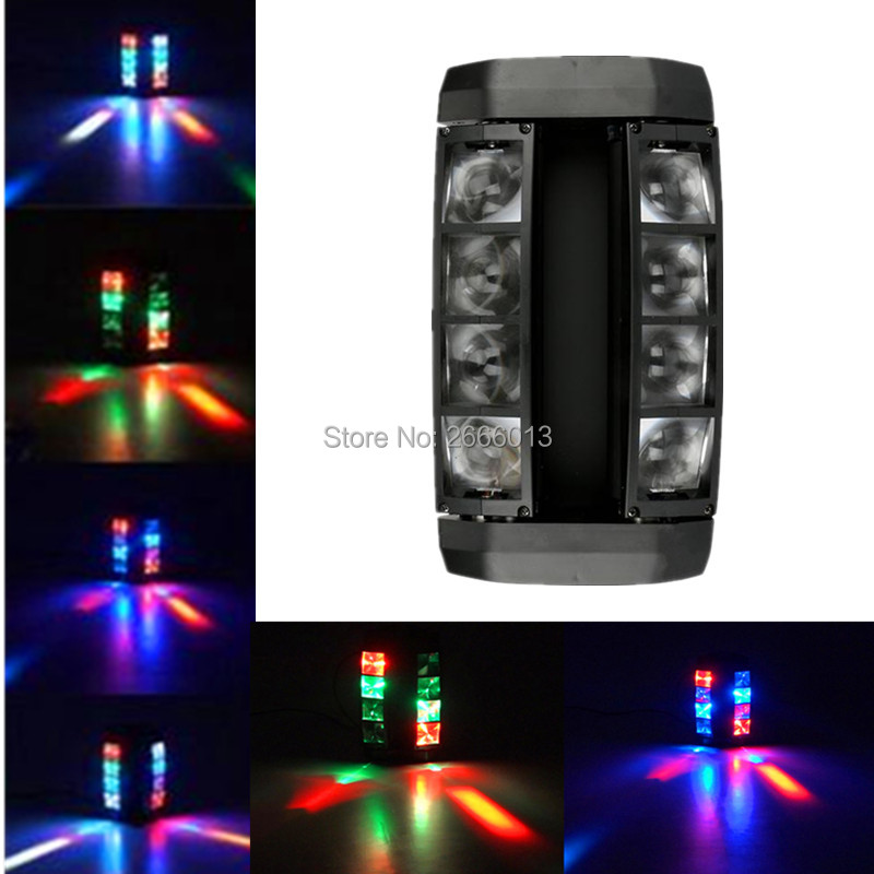 8X10W Mini LED Spider light RGBW LED Beam Stage Lighting/Business Lights/High Power with Professional for Disco DJ Party lamps 2pcs lot rgbw double head 8x10w led beam light mini led spider light dmx512 control for stage disco dj equipments free shipping