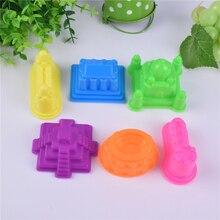 Arpa масса для лепки Playdough Полимерная глина Пластилин пресс-формы набор 6 шт./компл. для слайма волшебный песок замок Пирамида тадж махал