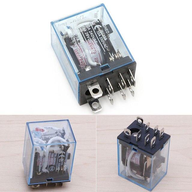 OOTDTY 1Pc LY2NJ AC 220V Coil 10A 240V Power Relay DPDT Led Lampin