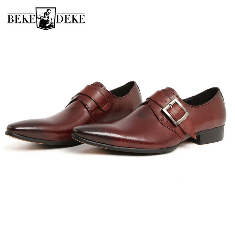 Wedding Genuine Leather Mens Shoes Sales Black Brown Fashion Italian Male Shoes Pointed Toe Business Man Footwear Formal Zapatos top brand tassel men shoes dress black italian fashion wedding male shoes 2018 new genuine leather business man formal footwear