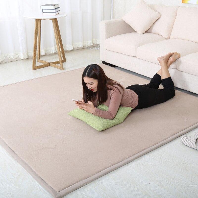 200*300 grande surface tapis corail polaire tapis Tatami thé Table chambre tapis enfants salon chute preuve tapis ramper tapis
