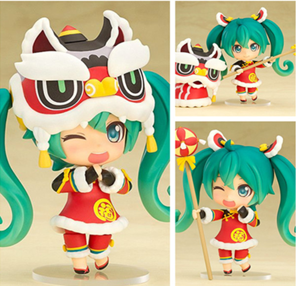 Hatsune Miku Lion Dance Ver. #654 Nendoroid PVC Action Figure Collectible Model Toy цена 2017