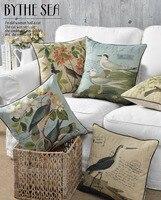 Phim Hoạt Hình mới Sofa Cushion Covers Con Chim với Quần Áo trên capa almofada decorativa Linen 45*45 cm Bán Buôn giảm giá nhiều hơn