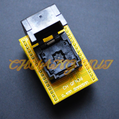 IC TEST QFN36 to DIP36 Programmer adapter QFN36-DIP36 IC test socket WSON36 DFN36 MLF36 Pitch=0.4mm Size=5x5mm ic xeltek programmers imported private cx3025 test writers convert adapter