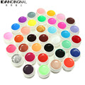 Pro 36 Pots Nail Art UV Gel Tips Shiny Cover Solid Colors Excellent Extension DIY Manicure For Decoration Design Tools