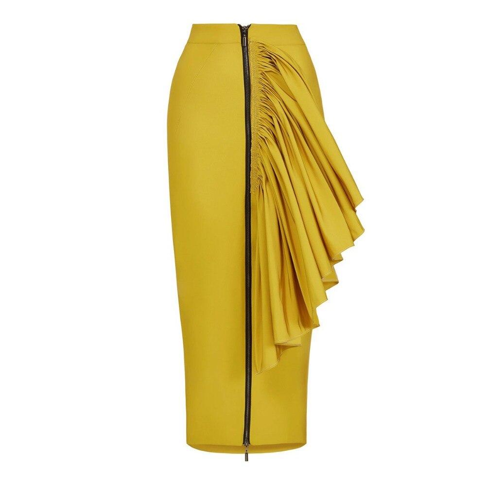 Clocolor Fashion Pencil Skirt Women Sexy Bodycon Zipper