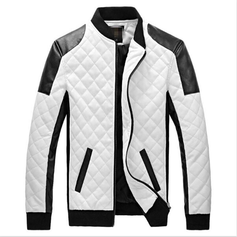 2018 Новый Для мужчин кожаная куртка пальто молодых корейских мужчин Тонкий локомотив Лилин куртка Размеры
