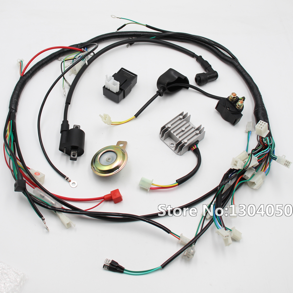 hight resolution of electric parts wire cable cdi ignition coil horn rectifier kit for 1 1