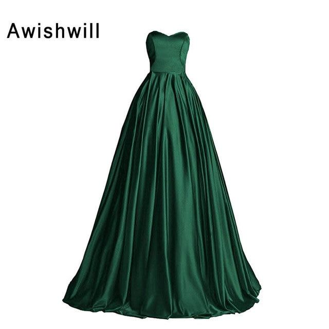 Floor Length Green Dresses