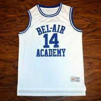 MM MASMIG Will Smith #14 Bel-Air Académie de Basket-Ball Jersey Piqué Blanc S M L XL XXL XXXL