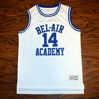 MM MASMIG Will Smith 14 Bel Air Academy Basketball Jersey Stitched White S M L XL