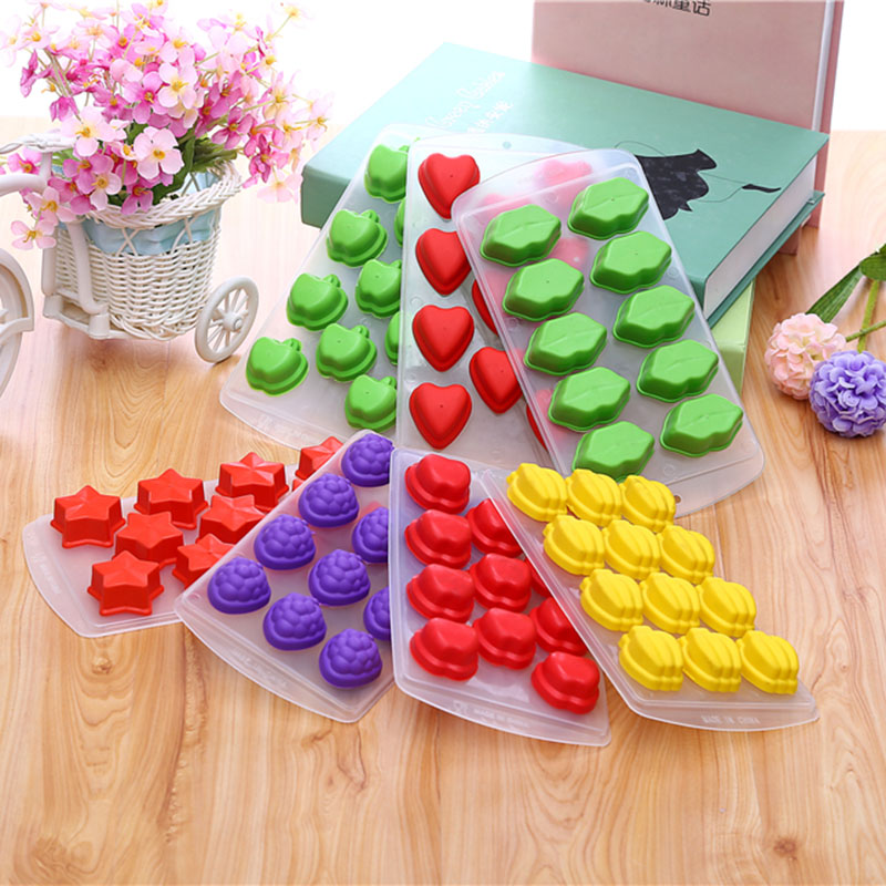 Apple Star Heart Silicone Ice Cube Mold Fruit Lip Ice Cube Maker Kitchen Icecream Ice Cube Tray 1733