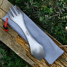 Tiartisan outdoor Camping Pure Titanium 3 in 1 Spork Spoon fork knife set Camping Picnic Tableware цена и фото