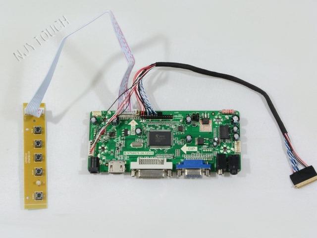 M. NT68676.2A HDMI DVI VGA Placa Controladora de ÁUDIO LCD para PQ101WX01 1280x800 tela LCD painel de LED Driver placa Frete grátis