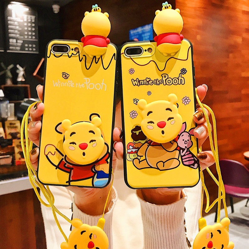 6af08734623 Cute Cartoon Bear Donald Daisy Phone Case For iphone 6 6 S 7 8 Plus Animal  P Doll