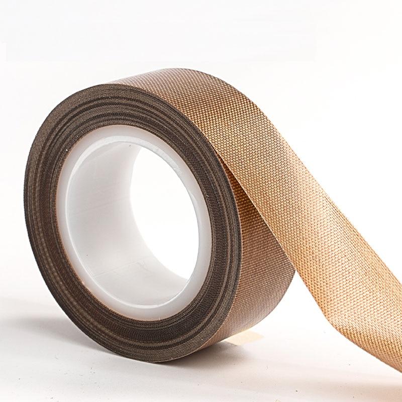 Free Shipping 1PCS 10meter Long 0.13mm*19mm Teflon Tape High Temperature Resistant Heat Tape High Temperature Tape