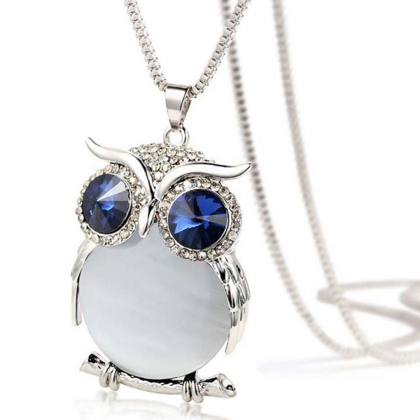 Charming Owl Pendant Women's Necklace 1