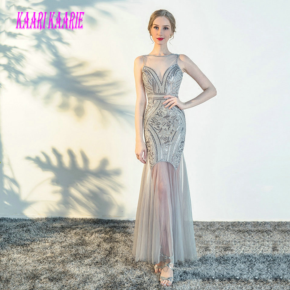 Evening Dresses Soayle Vestidos De Festa Longo Sweetheart Mermaid Evening Dresses 2018 Silver Meteor Sequin Arabia Dubai Fashion Prom Dresses