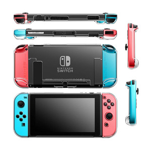 Image 5 - Detachable Crystal PC Transparent Case For Nintendo Nintend Switch NS NX Cases Hard Clear Back Cover Shell Coque Ultra Thin Bag