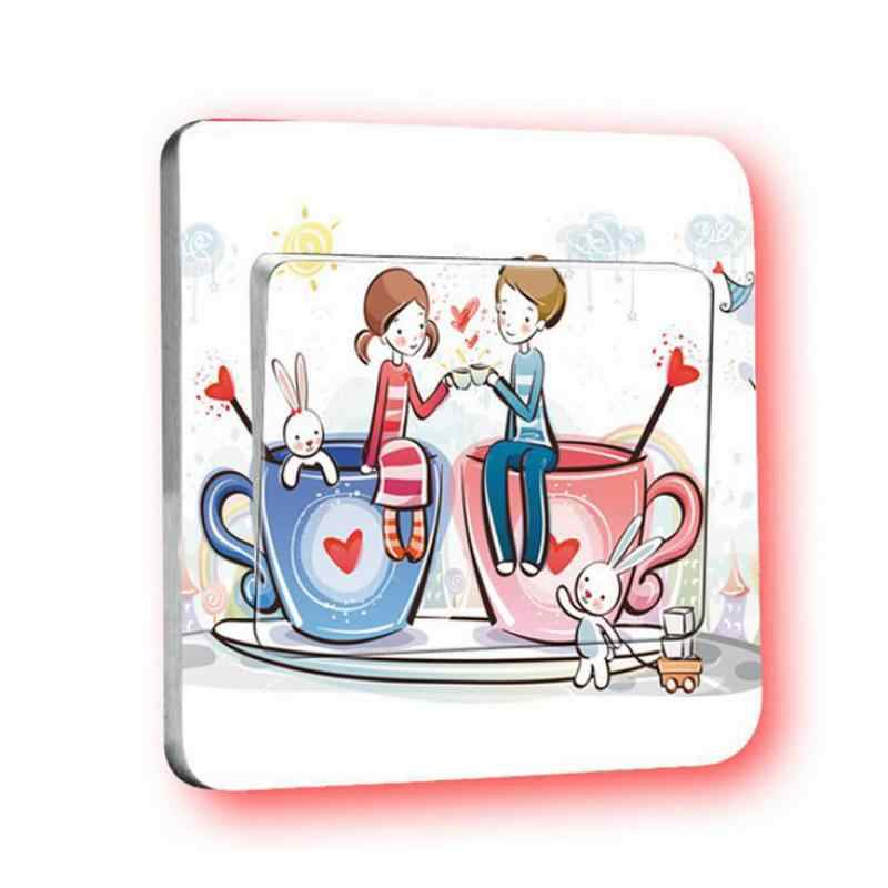 36c560a938 ... 1 pcs Sweet Romantic Unlimited Fashion Style Switch Sticker Stickers 9  X 9cm Removable Socket Border