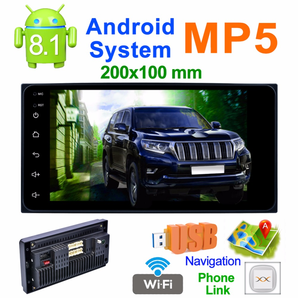 7 Inch Quad Core <font><b>2</b></font> <font><b>Din</b></font> Android 8.1 Car Stereo MP5 Player GPS Navi FM Radio WiFi BT for Toyota CAMRY YARIS RAV4 Android Head Unit image