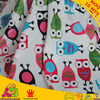 Free Shipping Owl Design Digital Print Minky Used For Baby Blanket Baby Bibs