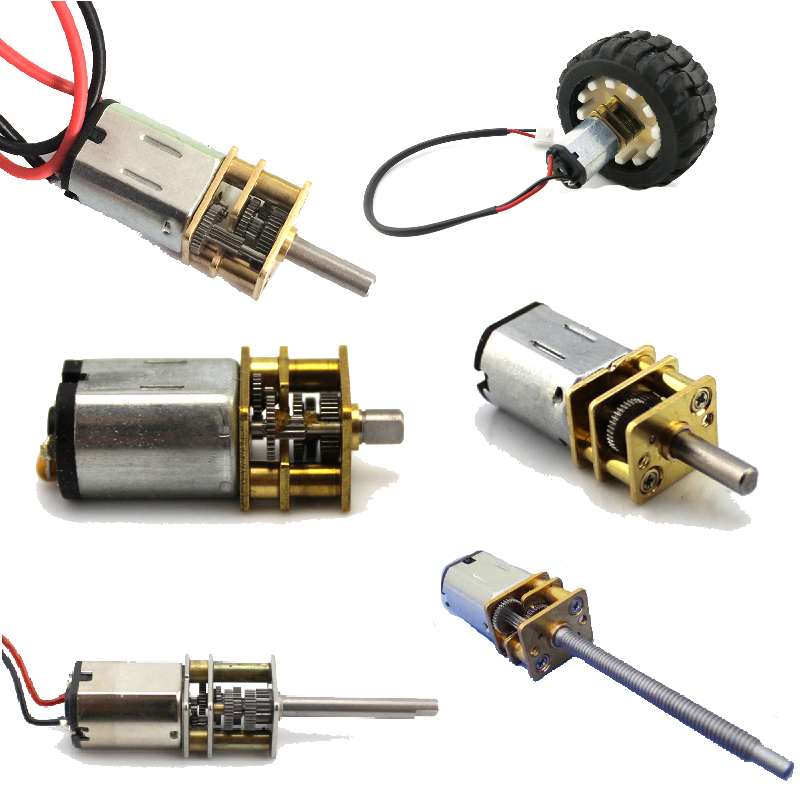 N20 reducer motor smart car robot mini dc gear motor gear for Robot motors and parts