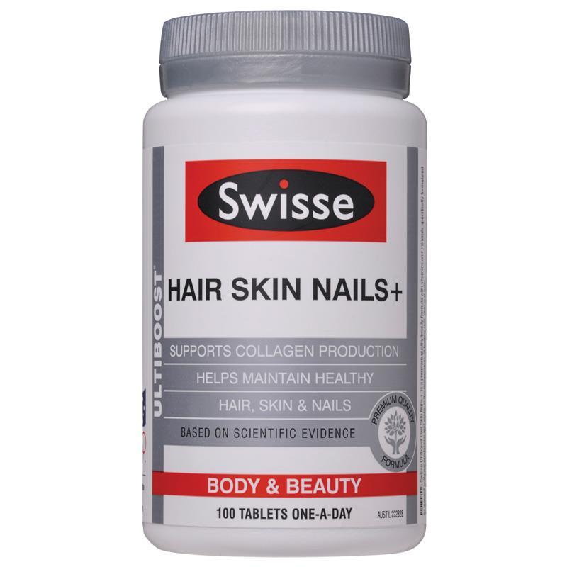Australia Swisse Hair Skin Nails Collagen for Women Glossy Hair Radiant Skin Healthy Nails Strength Antioxidant Support