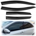 4 Pcs/Set Black Car Window Visor Vent Sun Shade Rain Deflector Cover Guard For FORD /FOCUS 2012-2014 Acrylic Sheet Fluted