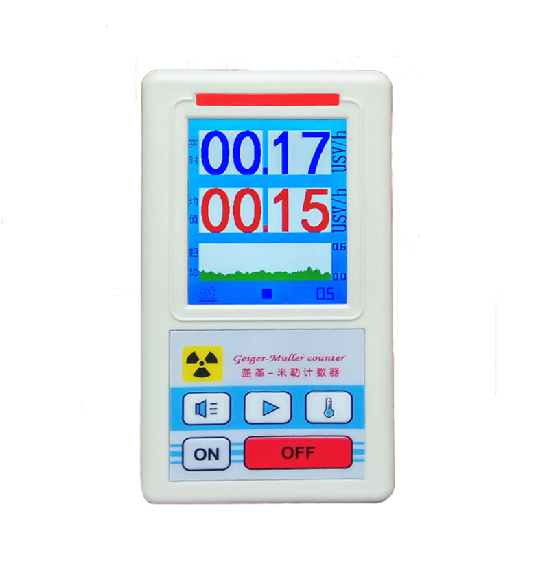 лучшая цена Geiger Counter Nuclear Radiation Detector Personal Dosimeters Marble Detector Nuclear Radiation Tester With Display Screen