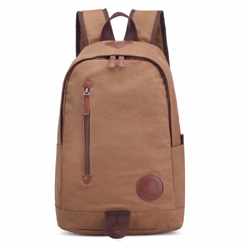 100% Cotton Canvas Backpack Men Casual School Bags For Teenagers Fashion Korean School Backpacks Solid Vintage Student bag