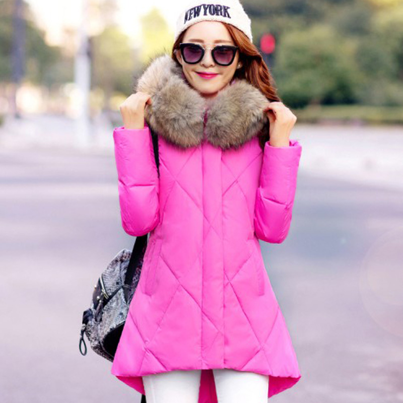 winter jacket women 2016 large fur collar cotton-padded jacket parka casual winter coat women clothing Plus size Outwear