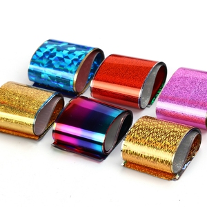 Image 2 - Elessical 16pcs 20*4cm Mix Nail art transfer foil Sticker ongles decoration nail art decals Design For Nails wraps DIY Set folie