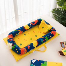 Colourful Baby Nest Bed Crib Portable Removable And Washable Crib Travel Bed For Children Infant Kids Cotton Cradle Baby Nest