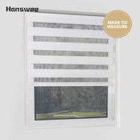 Top quality Mini roller blinds made to measure size with zebra fabric screw free window frame easy mount