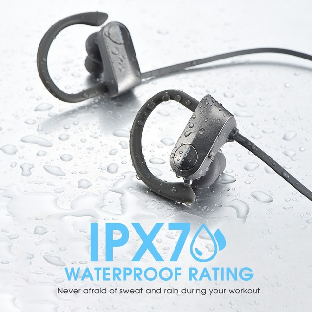 Mpow ipx7 Waterproof D7 2nd Version 10-12H Playing Time Bluetooth Wireless 4.1 Headphons Sport Earphones For iPhone Xs Xr Xiaomi 2