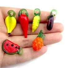 Подвеска в виде фруктов овощей арбуза 4 шт/лот 14 видов стеклянная