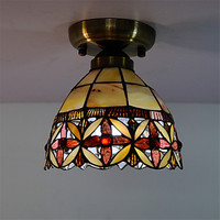 Tiffany Style Flushed LED Ceiling Light Fixtures Bedroom Living Room Lights Ceiling Lamps Lamparas De Techo
